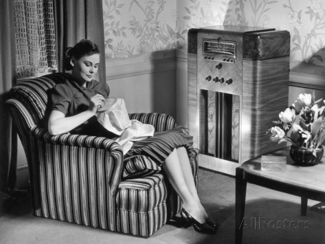 george-marks-woman-knitting-and-listening-to-the-radio